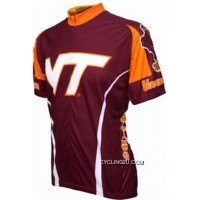 For Sale Virginia Tech Hokies Cycling Short Sleeve Jersey Bike Clothing Cycle Apparel TJ-640-4669