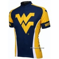 West Virginia Mountaineers Cycling Short Sleeve Jersey Tj-252-4930 Super Deals
