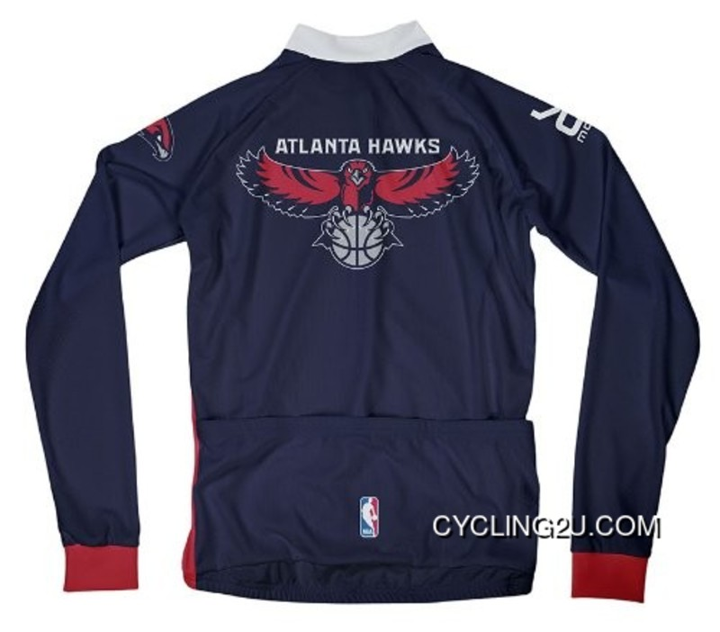 Free Shipping Nba Atlanta Hawks Long Sleeve Cycling Jersey Bike Clothing Cycle Apparel Shirt Outfit Tj-947-9097