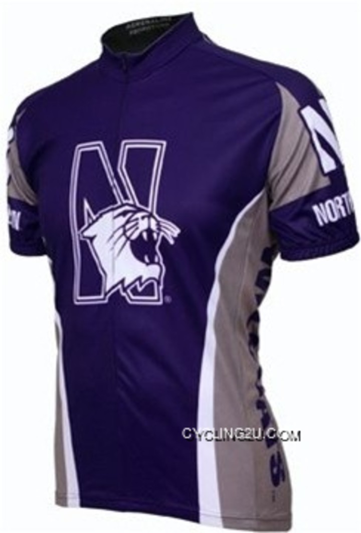 NU Northwestern University WildCats Cycling Jersey TJ-794-6657 For Sale