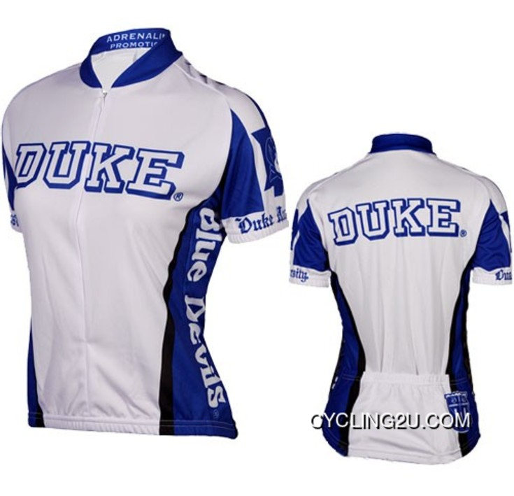 Copuon Duke University Blue Devils White Cycling Jersey Tj-373-5942