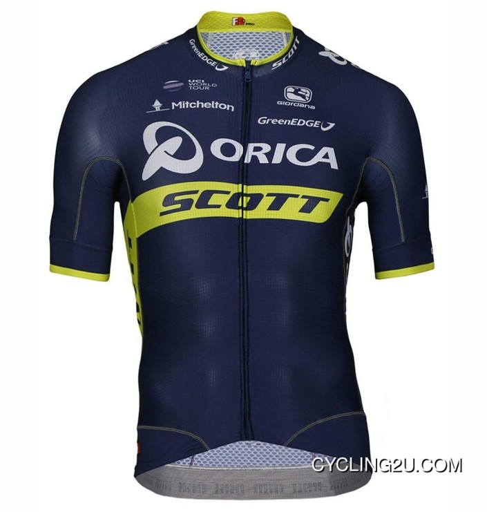 Team Orica Scott Short Sleeve Cycling Jersey Bike Clothing Cycle Apparel Shirt Tj-285-1520 Discount